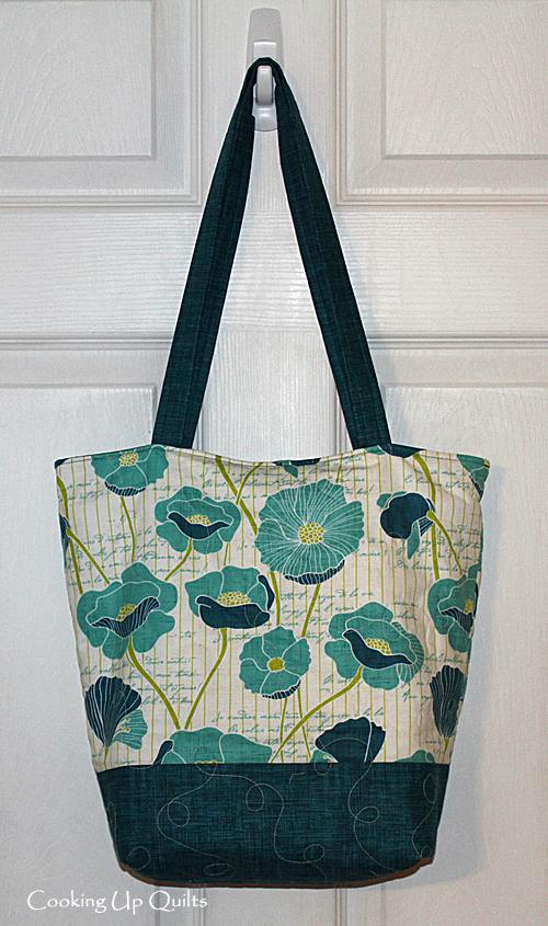 Zipper tote, handbag, quilted bag