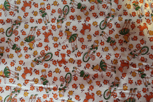 30s Print Children at Play Fabric