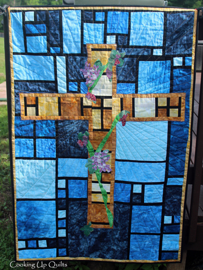 Stained Glass Window Quilted Wallhanging