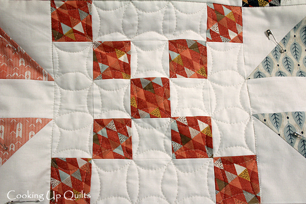 Continuous Line Quilting Design
