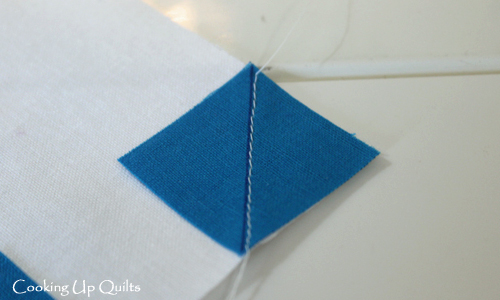 Sewing corner to corner
