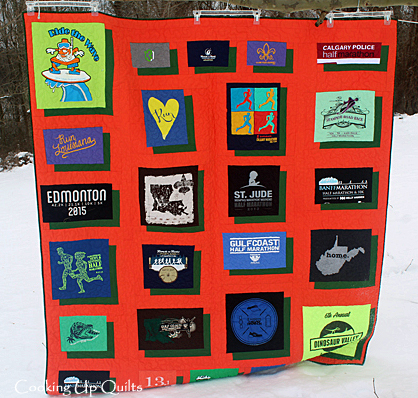 tShirt Quilt Floating Squares