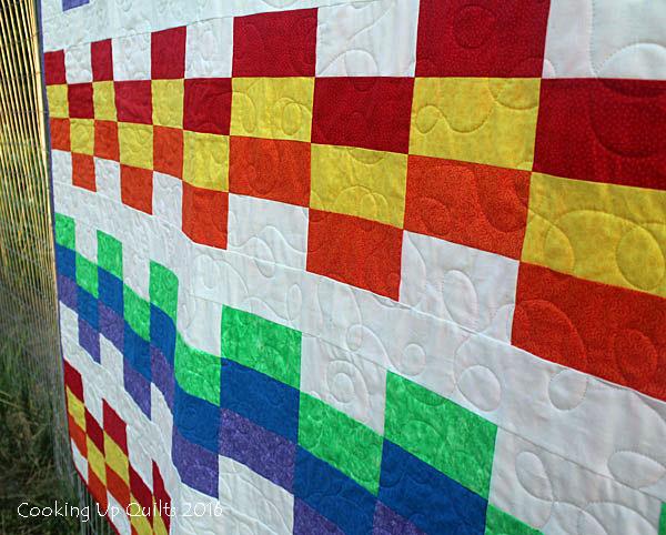 Rainbow Love Quilt Design