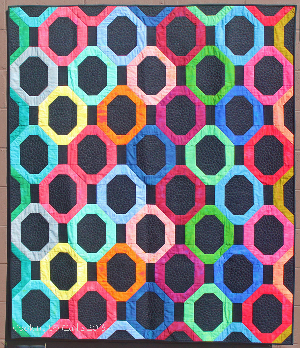 Stack o' Bubbles finished quilt