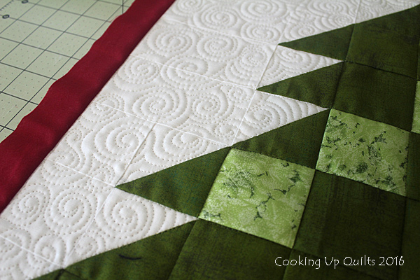 Swirl quilting free motion quilting