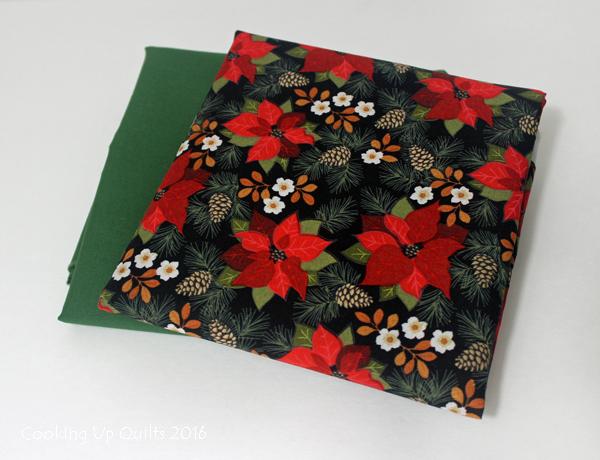 Kona Basil and JoAnn Fabrics print