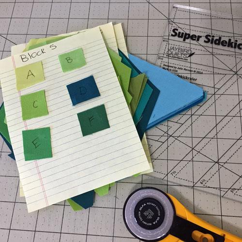 Precutting Gravity Quilt Blocks
