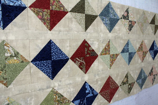 Center rows of shark quilt