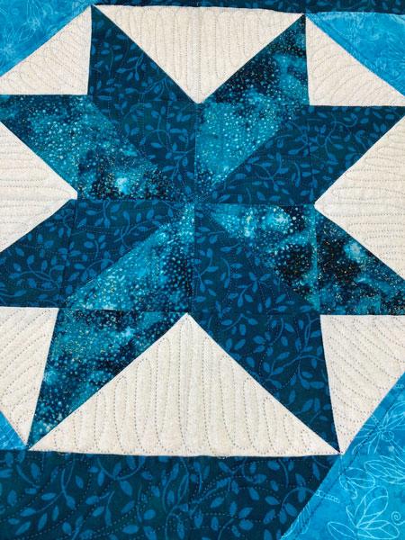 Center Star Labyrinth Quilt