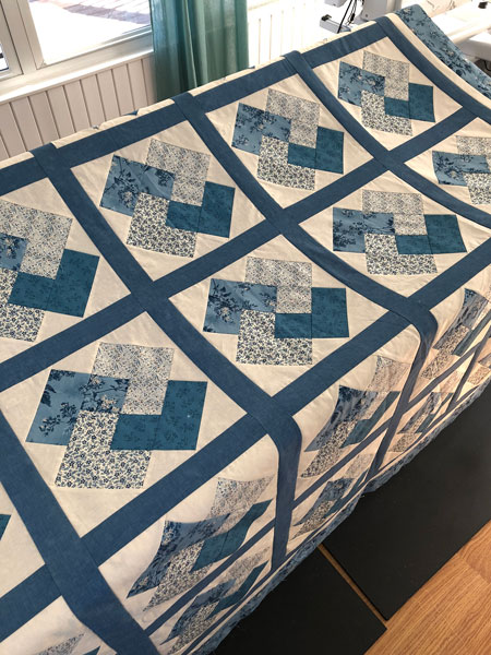 Card Trick Quilt Flimsy