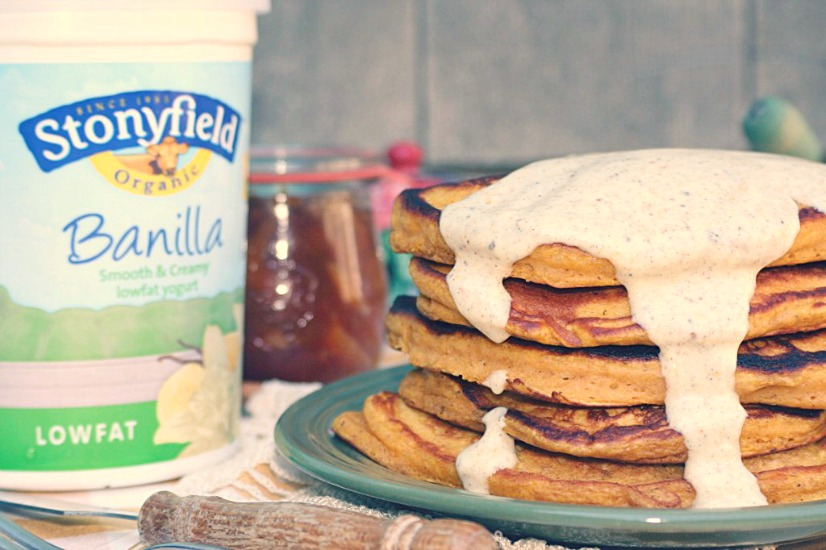 Pumpkin Pie Pancakes Recipe from @nella22 at cookingwithbooks.com
