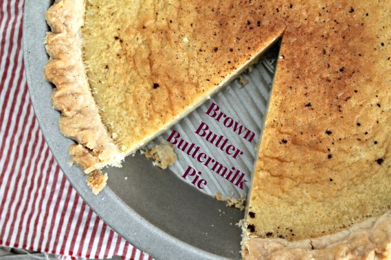 Brown Butter Buttermilk Pie - A classic buttermilk pie with the flavor of browned butter added in. Get this delicious dessert recipe from CookingWithBooks.com