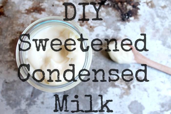 DIY Sweetened Condensed Milk recipe1