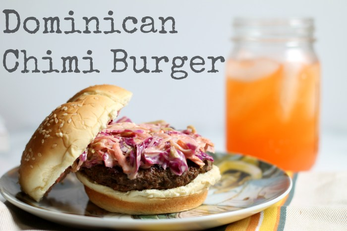 Dominican Chimi Burger 02