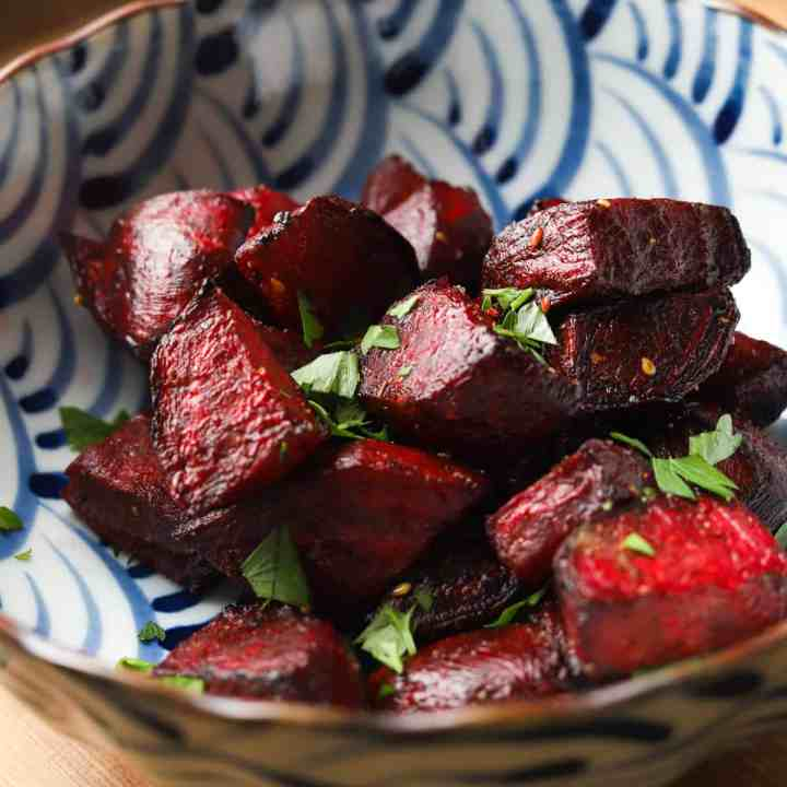 Roast Beetroot with herbs (Air Fryer or Oven)