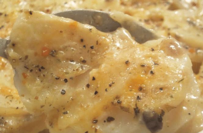 Creamy scalloped potatoes with mushroom soup