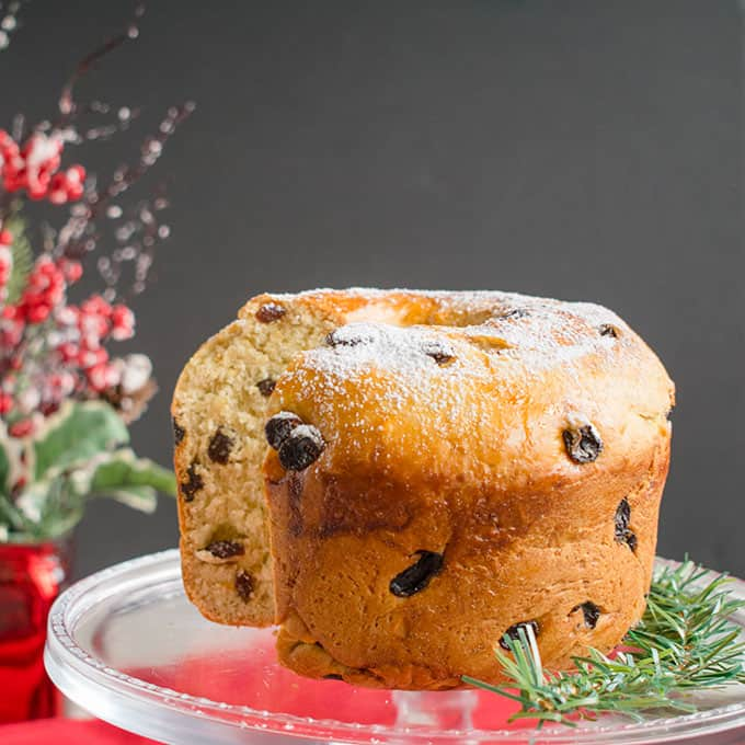 Italian Christmas Cake.Panettone Recipe Italian Christmas Bread