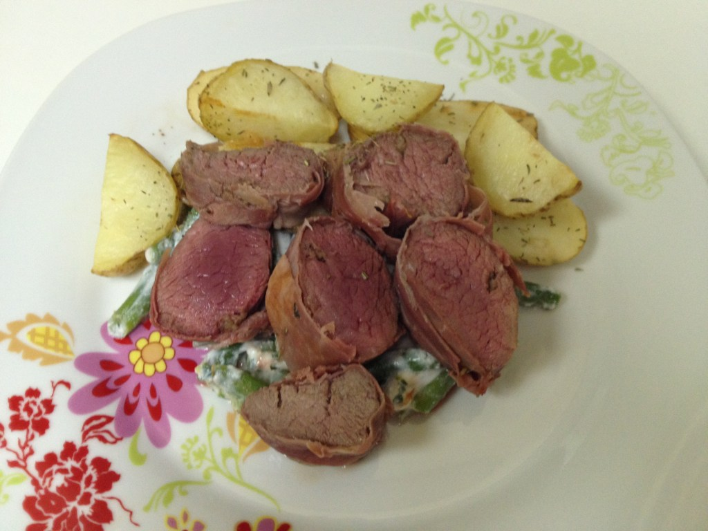 Lamb with Prosciutto and Roasted Potatoes