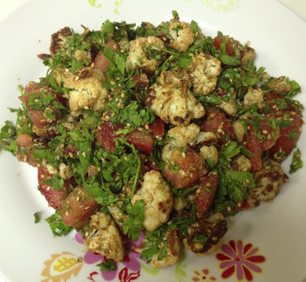 Roasted Cauliflower Salad with Zaatar