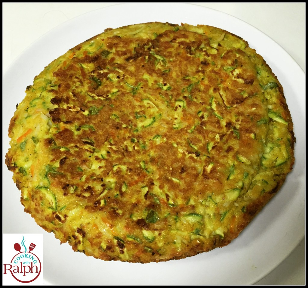 Fritatta of Surimi with Zucchini and Turmeric