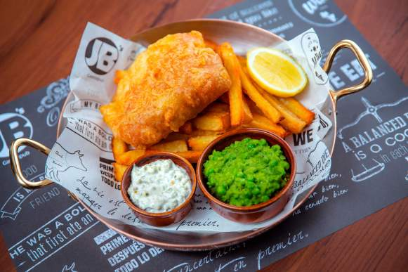 Fish n Chips at JB's Gastropub, Amwaj Rotana, Dubai