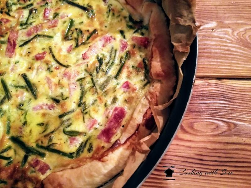 torta con asparagi e prosciutto cotto