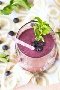 Blueberry Smoothie Recipe With Mint Recipe