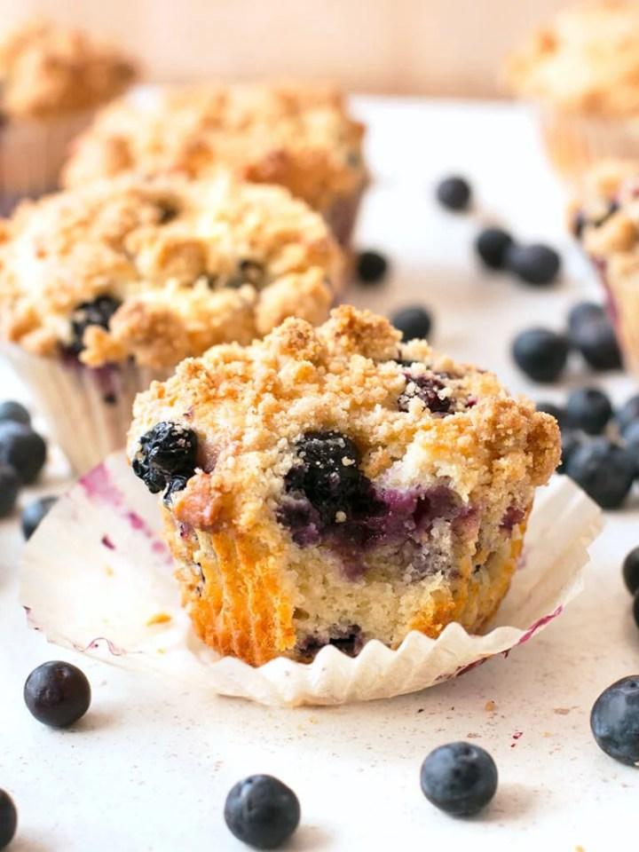 Scrumptious Blueberry Crumb Muffins
