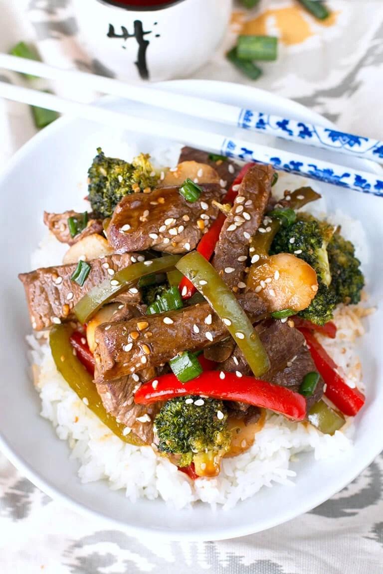 Garlic Beef and Vegetable Stir-Fry