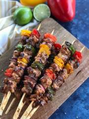Homemade chicken shish kabob