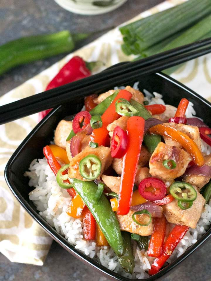 Sweet and Spicy Chicken Stir-Fry is a quick and easy dinner recipe