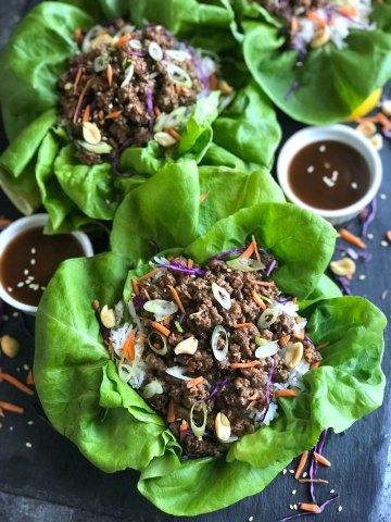 Healthy Asian Beef Lettuce Wrap