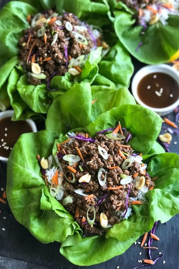 Asian Beef Lettuce Wrap
