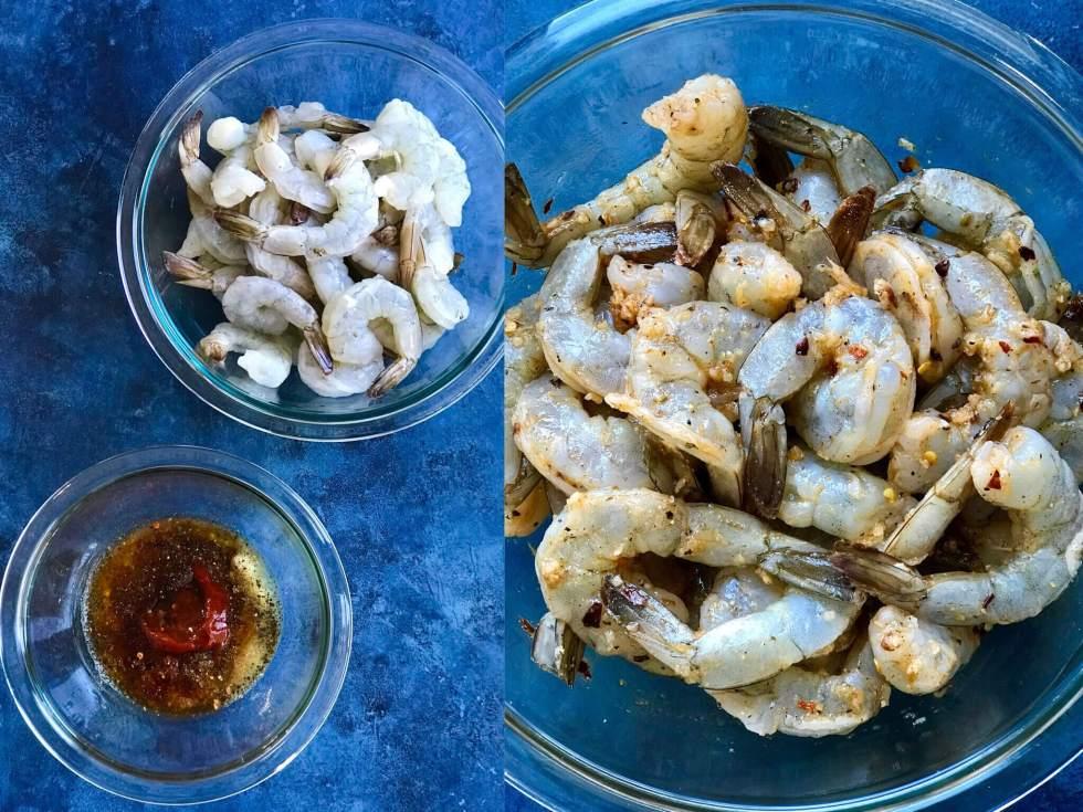 Sriracha Garlic Shrimp Sheet Pan