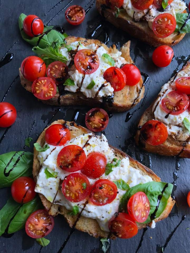 Delicious Burrata Caprese Toast