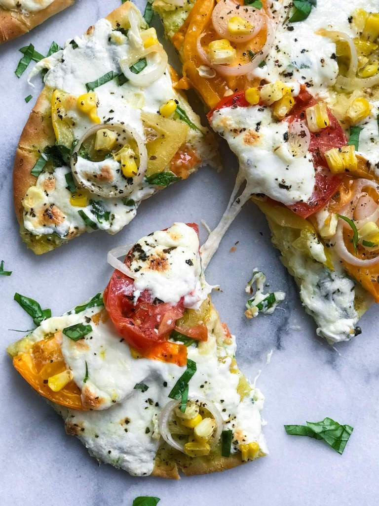 Pesto Burrata Veggie Pizza