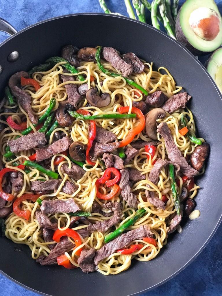 Easy Beef Lo Mein Noodles
