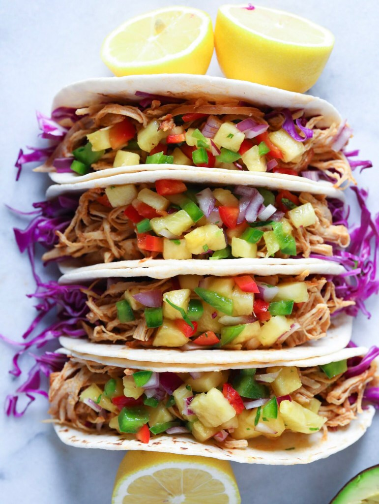 Shredded BBQ Chicken Tacos