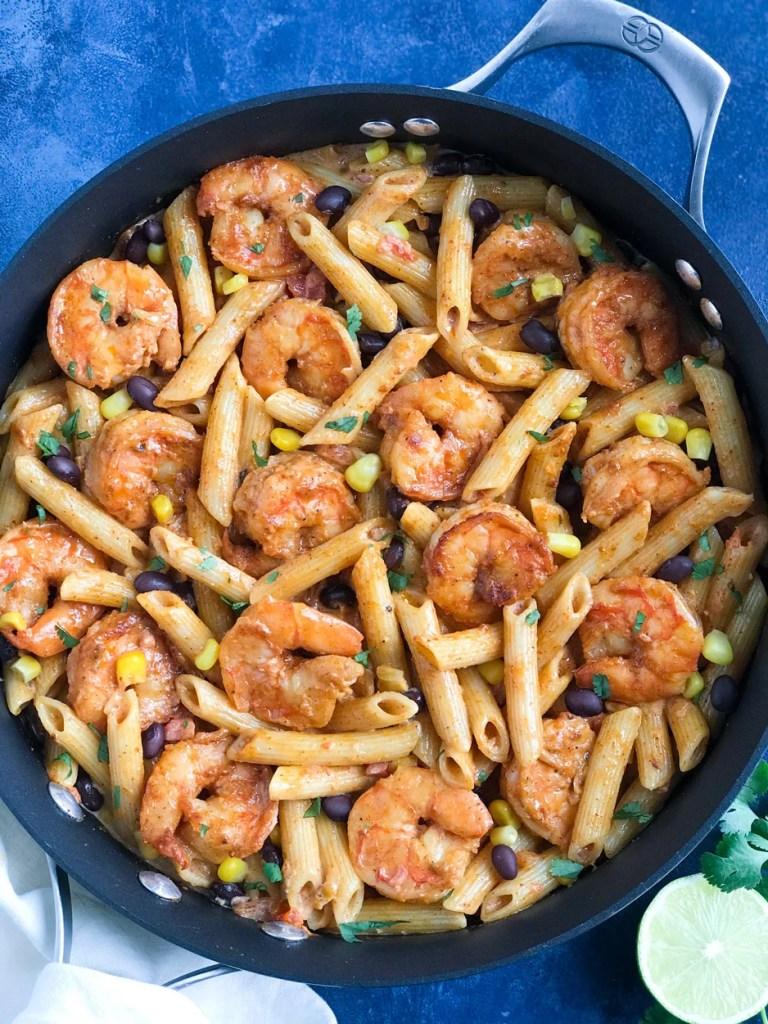 Creamy Southwest Shrimp Pasta