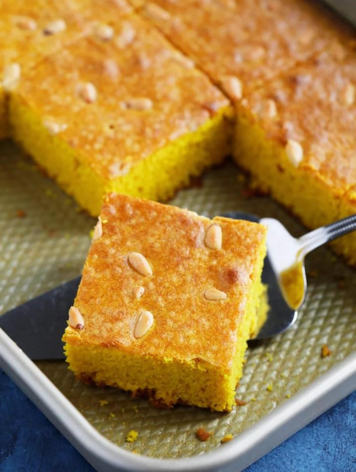 Sfouf (Lebanese Tumeric Cake)