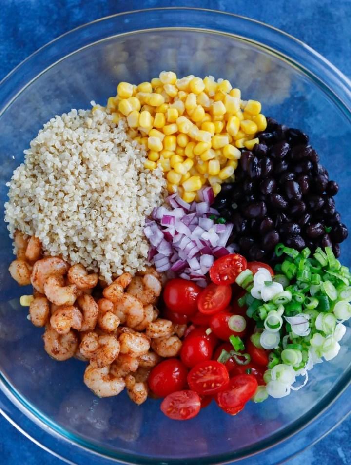 Southwest Shrimp Quinoa Salad
