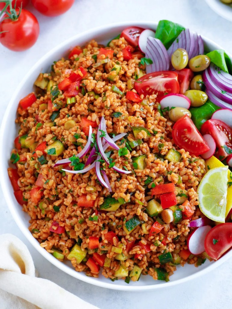 Turkish Bulgur Salad (kisir)