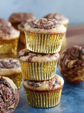 Nutella Swirl Banana Muffins Recipe