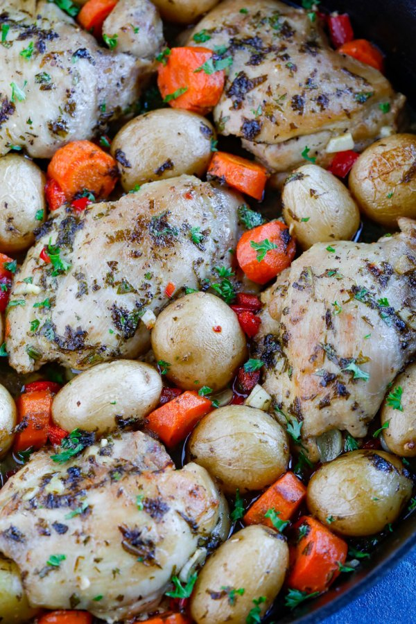 oven baked chicken and potatoes