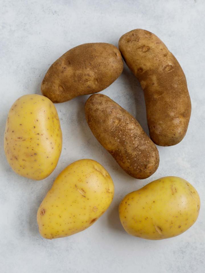 yukon and russet potatoes