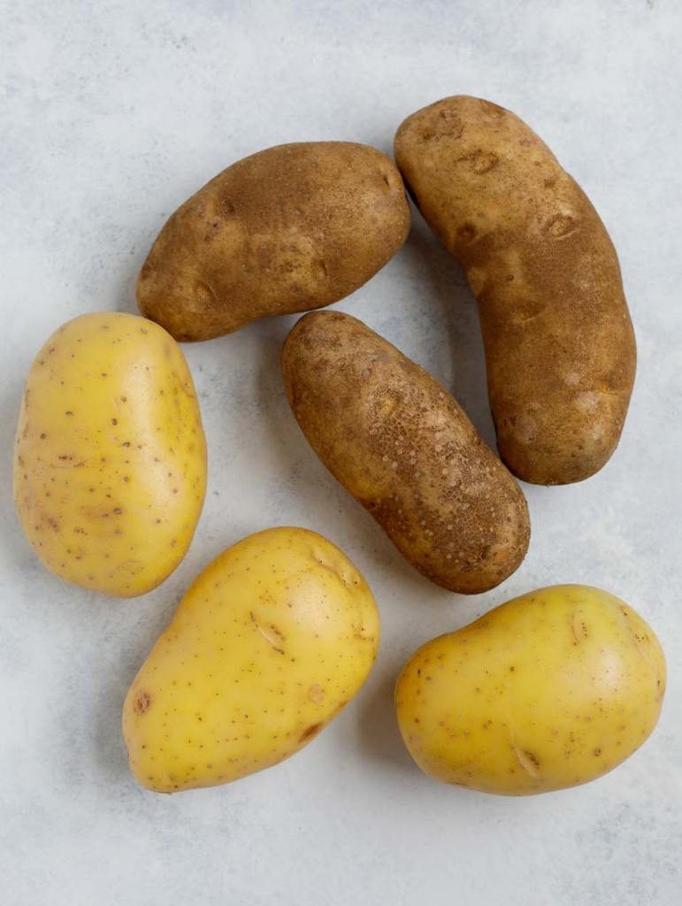 yukon and russet potatoes