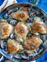 creamy-mushroom-chicken-thighs