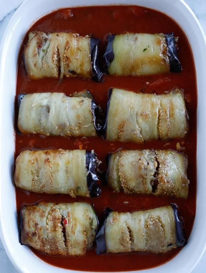 stuffed eggplant rolls