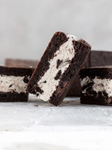 oreo ice cream sandwich tipped on the side