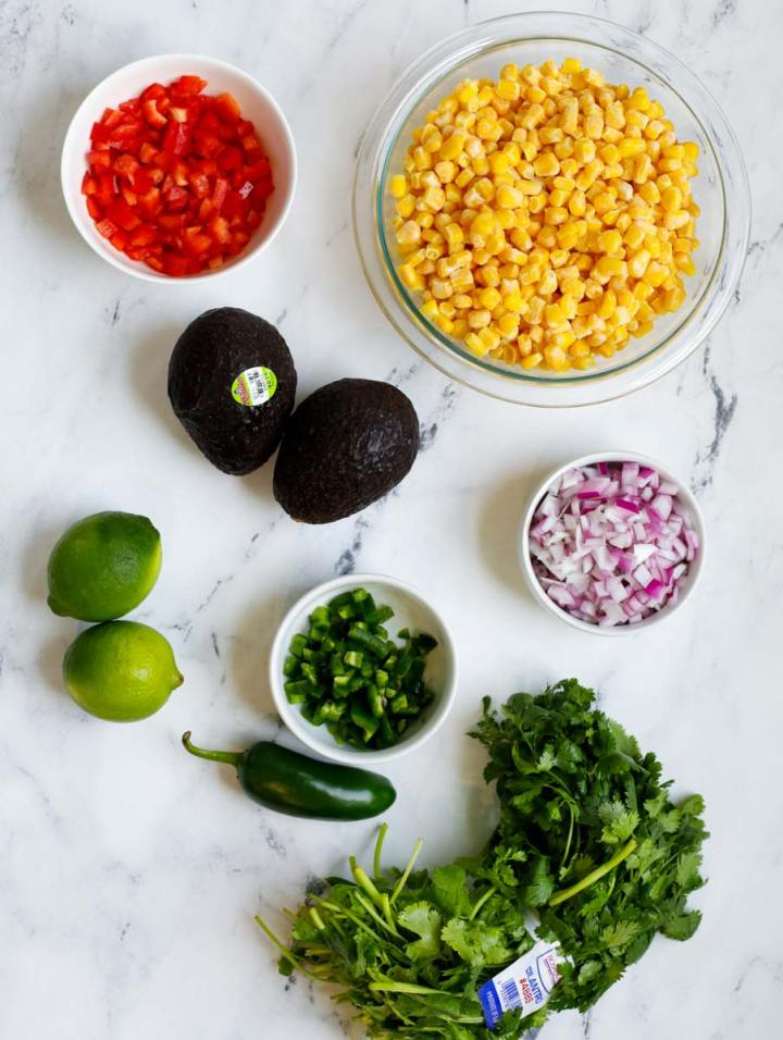 ingredients for Street Corn Salad